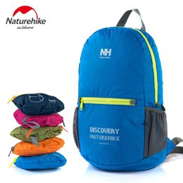 Wholesale Green Hiking Backpack - Naturehike Outdoor Sport Bag Portable Camping Hiking Portable Waterproof Foilding Backpack Women Men Travel 15L NH15A001-B