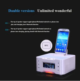 Wholesale Android Speaker Docking - Wholesale- Portable Loudspeaker A9 Bluetooth Speaker NFC Dock Station for Apple Samsung Android ipod touch iphone 7 7 plus clock With USB