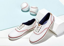 Wholesale Ks Leather - 2017 TOP High quality KS BRAND canvas shoes WOMEN small white shoes baseball leather leisure shoes