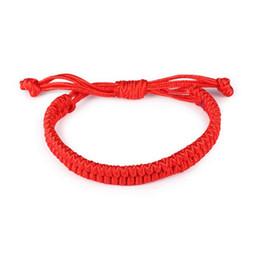 Wholesale Kabbalah Chain - Charms Good Luck Red String of Fate Rope Bracelets Friendship Bangle Fashion Handmade Cord Lucky Kabbalah Bracelet Jewelry Gift