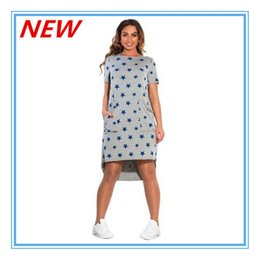 Wholesale Cheap Grey Dress For Women - 2017 Casual Summer Dresses Cheap grey short Sleeveless O-neck Women Dress Casual for fashion lady with star print ouc463