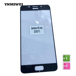 Wholesale Iphone 3s Screen - Wholesale- ZC521TL 2Pcs Full Screen Protector For Asus Zenfone 3s Max 5.2 Inch Silk Print Tempered Glass 9H Black For Asus Zenfone YNMIWEI