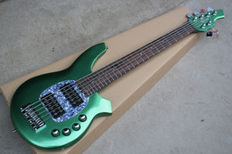 Wholesale Musicman String Bass Guitars - Free shipping Brand new 6 strings Musicman electric bass guitar with 24 fret in green color