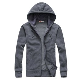 Wholesale Korean Fashion Men S Cardigan - Wholesale-New hot spring autumn 2016 men's Korean wild fashion casual zipper couple long-sleeved hooded simple solid color cardigan jacket