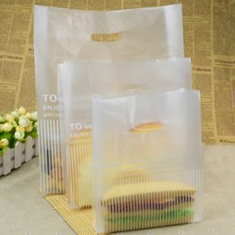 Wholesale Take Away Package - White Portable Standup Bags Food Packaging Gift Bags Scrub Take Away Food Convenience for Party Supplies 100pcs lot