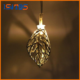 Wholesale New Wedding Cards - 1.65M Mini 10 led Leaf String Lights Battery Christmas Lights New Year Party Wedding Home Decoration Fairy Lights