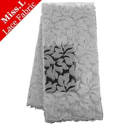 Wholesale Swiss Voile Lace Styles - 2017 New style white Color guipure French lace fabric High Quality Hot Sell African Swiss Voile Lace Fabric 5Yards free shipping
