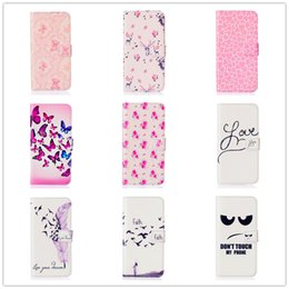 Wholesale A3 Fashion - Fashion Cartoon Leather Wallet Case for Samsung S5 S6 S7 A3 A5 Colored Drawing Pattern Wallet Case with Stand Card Holder Magnetic Closing