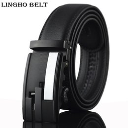 Wholesale Designer Men Briefs - 2017 Men's fashion cowhide genuine leather brief belt designer belts for men luxury mens belt black 110-130cm YD16