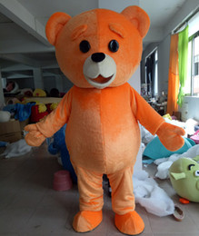 Wholesale teddy bear mascots - WR210 Free shipping light and easy to wear adult orange colour plush teddy bear mascot costume for adult to wear