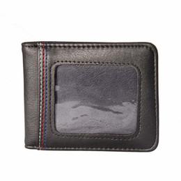 Wholesale paris cards - Fmous brand London Paris Black Purse Slim Wallet Men Credit Card Holder PU Leather Safe Hidden Mini Wallet Case Male Clip Purse Bag