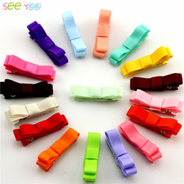 Wholesale Children S Headbands - New Boutique Baby Ribbon Bows With Clip Hair Accessories For Girl 'S Hair Clips Children Hairpins Cute Hair Ornaments 30pcs  Lot