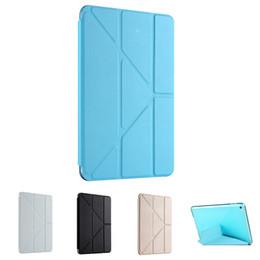 Canada Vente en gros - Etui de protection en plastique avec rabat en TPU pour déformation en cuir multiple pour iPad Air 2 cheap apple ipad wholesale Offre