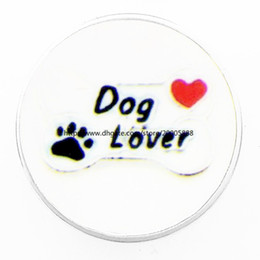 Wholesale Best Dog Gifts - fashion Dog lovers 18 mm glass print ginger snap button jewelry luxurious alloy bottom fit 18 mm snaps bracelets best gifts