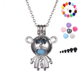 Wholesale Human Heart Halloween - Mini Human Shape Necklaces Essential Oil Locket Necklace Perfume Pendant DIY Necklace Diffuser Locket Necklaces Free Shipping