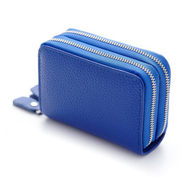 Wholesale Sports Female Bag - Hot Sale Genuine Leather Unisex Card Holder Wallet Fashion Female Credit Card Holder Women Pillow Card Purse Organizer Money Bag