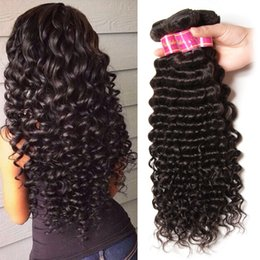 Wholesale Nature Weave - Peruvian virgin Hair deep wave curly nature hair 4pcs,Peruvian kinky curly hair no shedding no tangle,free shipping 3,4,5pcs lot