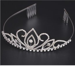 Wholesale Ornaments For Hair - Tiaras and Crowns Wedding Hair Accessories Tiara Bridal Crown Wedding Tiaras for Brides Hair Ornaments silver plated