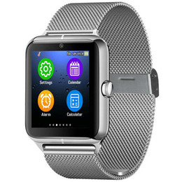 Wholesale Touchscreen Watch Bluetooth - Touchscreen Z50 Smart Watch Bluetooth 3.0 smartphone watch Camera Pedometer Sedentary Reminder with TF SIM card For Android mobile Phones