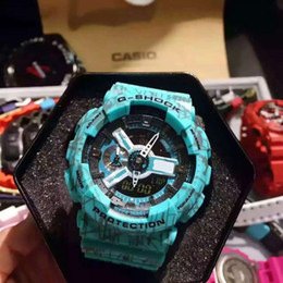 Wholesale Top Brand Divers Watches - AAA New Top quality Diver watch g men's sports watches Luxury brand Fashion S Shock men watch LED chronograph military wristwatch ga100