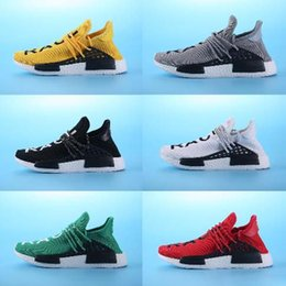 Wholesale Canvas Shoes Volleyball - 2017 HUMAN RACE X NMD Pharrell Joint Men's Shoes Casual Shoes Sports Network Men Sneaker Running Canvas Green Blue Grey outdoor shoes