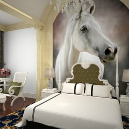 Wholesale Rolling Horse - Wholesale-Custom Horse entrance hallway TV background wallpaper wallpaper living room painted a large mural painting wall covering