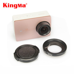 Wholesale 37mm cap - Wholesale-KingMa Xiaomi Yi II 4K Lens Cover Lens Cap+37mm UV Filter Lens For Xiaomi Yi 2 4K Action Sports Camera YI II 4k Accessories