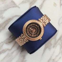 Wholesale Hot Women Rose Diamond Watch - Hot Items New design Lady female quartz Steel Bracelet Chain rose Women watch Dress Watch with diamond Japan Movement Life Waterproof