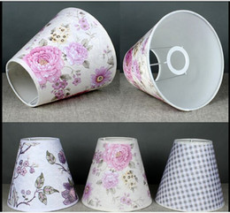 Wholesale Flowers Contemporary - Flower Style E27 Quality Fabric Flame Retardant PVC Lamp Covers&Shades Used for Table Lamps Floor Lights Wall Lamp Lighting Accessories