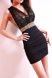 Wholesale Cheap Rhinestone Club Dresses - Cheap jacobs Sequin skirt sexy slim package hip dress LYQ003
