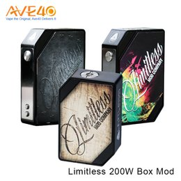 Wholesale Racing Metal - Authentic Limitless 200W LMC TC Box Mod New Version Supports Nickel Titanium Stainless Wire Powered by Dual 18650 Cells VS Arms Race