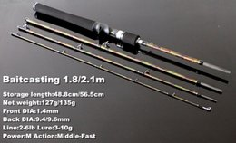 Wholesale Cheap Pole Rods - 1.8m 2.1m 4-section traveling fishing rod cheap casting&spinning fishing pole Dagger fishing tackle