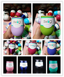 Wholesale Glass Shaped Cup - IN STOCK 50pcs Egg Shaped Cups 9oz Kids Stainless Steel Egg Shaped Beer Wine Glass 9oz 19 Colors Wine Cup Drinkware Mugs Multicolors