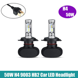 Wholesale Headlight Led Offroad - S1 CSP H4 H7 9005 9006 H11 H13 LED Headlight Bulbs 50W 8000LM 6500K LED Car Headlamp Work Lights 12V 24V Offroad ATVs SUV