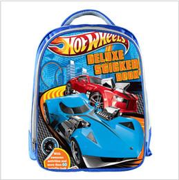 mochila crianças Desconto Hot Wheels Azul Sacos De Escola Para Adolescentes Carros Dos Desenhos Animados de 13 polegadas 3d Impressão Sacos De Escola Meninos Meninas Crianças Crianças Saco de Escola