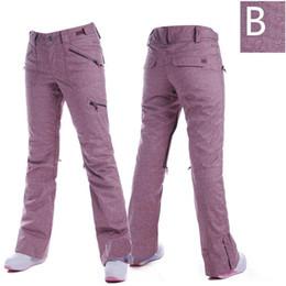 Wholesale Women Pattern Winter Trousers - Wholesale- Cowboy Pattern Purple Blue Gray Green Pink Outdoor Winter Snow Suit Women Ski Pants Waterproof Windproof Warm Snowboard Trousers