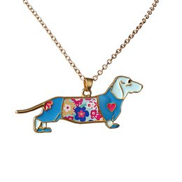 Wholesale Enamel Dog Charms - Colorful Butterfly Dog Cat Necklace Enamel Jewelry Pendant Alloy Charm For Women or Girl Statement Necklace Jewelry Accessory Wholesale