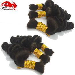 Wholesale Mix Length Bella Hair - Buy 3Lot Get 1FREE 16''Loose Brazilian Hair Loose Wave Human Hair Bulk For Braiding 50g Human Natural Wave Bella Hair Beautiful