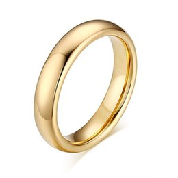 Wholesale Tungsten Gold Rings For Couples - Pandora Couples 6mm 4mm Sterling Silver Ring Mens for Women High Polished Plain Tungsten Wedding Ring Band Fashion Jewelry