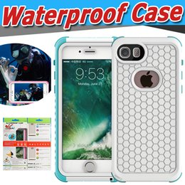 Wholesale Iphone Proof Protective Case - Waterproof Full Cover Protective Case For iPhone 7 Plus 6 6S Samsung S8 Plus Swimming Water Proof Shockproof With Retail Package Box 10pcs
