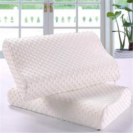 Wholesale Latex Bedding - Wholesale- Memory foam pillow care new 3 colors Orthopedic Latex Neck Pillow Fiber Slow Rebound Memory Foam Pillow Cervical Health Care