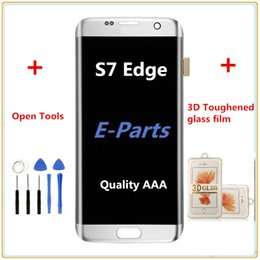 Wholesale Glass Lcd - 1Pcs For Samsung Galaxy S7 Edge G935 G935F G935A G935FD G935P Lcd Digitizer Displaiy Screen Assembly + S7 3D Toughened glass film + Tools