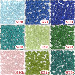 Wholesale Glass Tile Backsplash Kitchen - 200g Crystal Glass Free Stone Blue Mosaic tile_ backsplash kitchen wall tile sticker bathroom floor feet massage tile