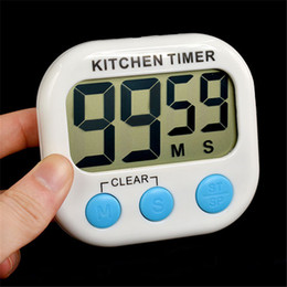 Wholesale Digital Count Up Down Timer - New LCD Digital Count Up Down Kitchen Cooking Timer Magnetic Electronic Alarm despertador desktop clock with kickstand Free DHL shpping