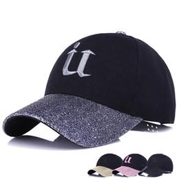 Wholesale Wholesale Women Bling Caps - 2017 Brand New Bling Baseball Cap Hats Men Women Snapback Flash Diamond Glowing Boutique Embroidery U Fashion Casual Cotton Cap