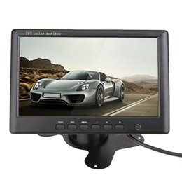 """Wholesale Ntsc Dc 12v - 7"""" Inch Car Monitor Color TFT LCD 800*480 16:9 Screen 2 Channel Video Input for Reverse Camera DVD with Remote Control DC 12V"""