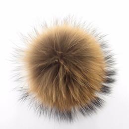 Wholesale Raccoon Fur Balls - Fashion Accessories Copy Raccoon Rabbit fur Fox fur pom poms ball Soft Fur Ball 9-10cm hat winter hats for shoes bags cap accessories