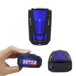 Wholesale Vehicle Voice Detector - 2017 New Car Detector V7 Russia English Voice 360 Degree Detection Alert Speed Limited Radar Warning Vehicle Anti with Led Display Red Blue