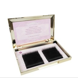 Wholesale Long Black Human Hair Extensions - 16 lines 0.07 0.10 3D 6D Volume False Eyelash Extension Mixed Lengths in One Strip Fancy Packing free shipping