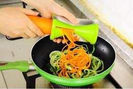 Wholesale vegetable spiralizer kitchen - Multi Functional Vegetable Spiral Slicer Colorful Graters Kitchen Spiralizer Julienne Cutter Carrots Shredder Creative Kitchen Gadgets